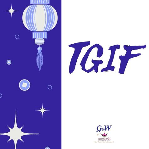 It's Friday! Make it a productive one. #tgif #itsfriday #friyay #fridayfeels #Allogramawards #awards #harnessthepowerofrecognition #Appreciation #smallbusiness #recognition #businesssuccess #leadership #award