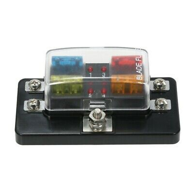 4way 24v Auto Car Power Distribution Blade Fuse Holder Box Panel Board Fs Ebay In 2020 Ebay Fuses Fuse Box