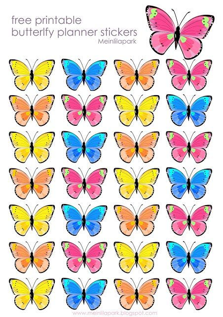 Free Printable Butterfly Planner Stickers 3d Butterfly Stickers