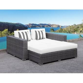 Shen Patio Daybed With Cushions Patio Daybed Outdoor Daybed Daybed Sets