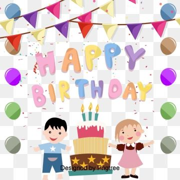Happy Birthday Poster Background Shading Background Clipart