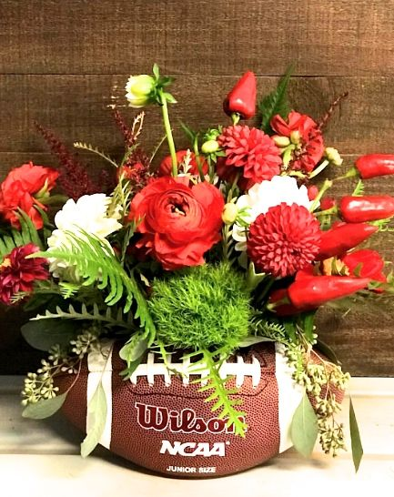 Game Day Is Just Around The Corner Get Festive With These Fun And Creative Floral Arrangements By The Bud Team