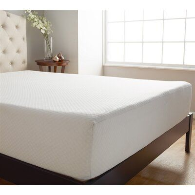 Alwyn Home Serene 10 Memory Foam Mattress Topper In 2020 Foam Mattress Mattress Firm Memory Foam Mattress