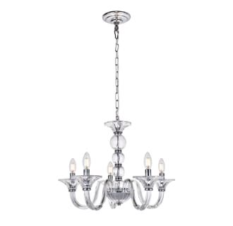 View The Elegant Lighting Ld4003d23 Vale 5 Light 23 Wide Crystal Chandelier At Build Com Candle Styling Classic Chandeliers Candle Style Chandelier