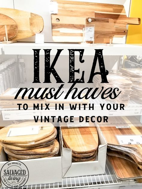 Does IKEA go with classic decor styles or can I mix IKEA with my vintage style? - Ikea DIY - The best IKEA hacks all in one place Vintage Stil, Vintage Decor, Vintage Industrial, Do It Yourself Ikea, Casa Decor 2016, Cheap Home Decor, Diy Home Decor, Ikea Must Haves, English Decor