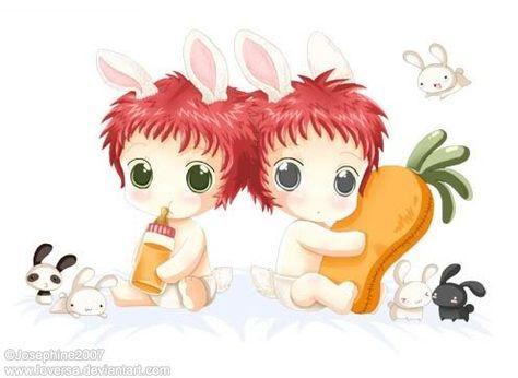 67 New Ideas Baby Twins Boy And Girl Anime Baby Cartoon Anime Baby Baby Bunnies