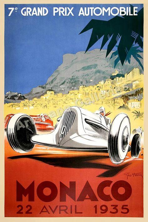 AZ11 Vintage 1978 Monaco Grand Prix Classic Motor Racing Poster Re-Print A2//A3