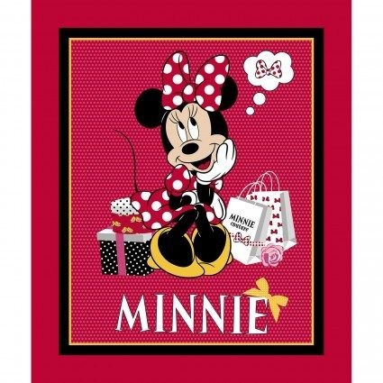 "Disney Minnie/'s World 100/% cotton fabric by the panel 36/"" X 43/"""
