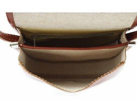 Borsa a tracolla piccola in vera pelle Bottega Carele BC303-8 colori