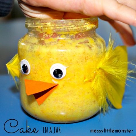 Messy Little Monster: Cake in a Jar : Easter Chick Activity for Kids