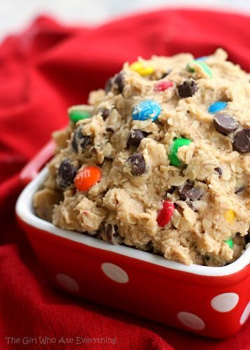 Monster Cookie Dough Dip | The Girl Who Ate Everything. Making this for my mom for mothers day!