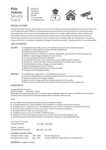 Security Guard Cv Sample Awesome Security Guard Cv Sample