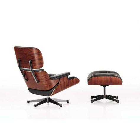 Vitra Lounge Chair Xl Und Ottoman Schwarz Designer Charles Ray Eames In 2020 Mit Bildern Schwarz