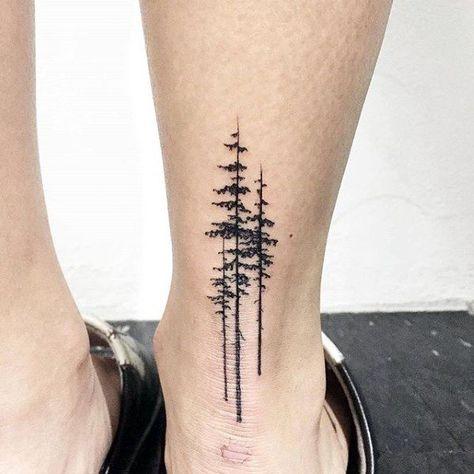 Heel Simple Tree Masculine Guys Tattoo Ideas