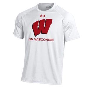 brand new ff2da 87045 Wisconsin Badgers Under Armour Football On Wisconsin Tech T ...