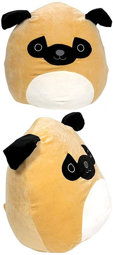Kellytoy Squishmallow Prince The Pug Super Soft Plush Toy Pillow Pet Pal Buddy 16 Inches Animal Pillows Soft Plush Plush Toy