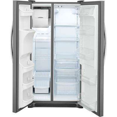 25 5 Cu Ft Side By Side Refrigerator In Stainless Steel Refrigerator Sale Side By Side Refrigerator Frigidaire Refrigerator