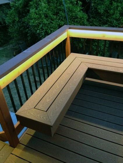 Top 60 Best Deck Lighting Ideas Outdoor Illumination Deck Bench Outdoor Deck Lighting Deck Seating