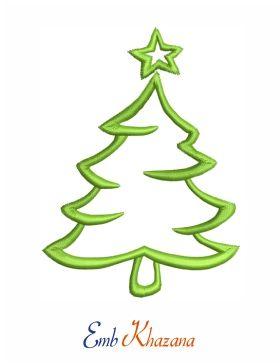 Christmas Tree Outline Embroidery Design Christmas Tree Outline Christmas Embroidery Designs Christmas Design