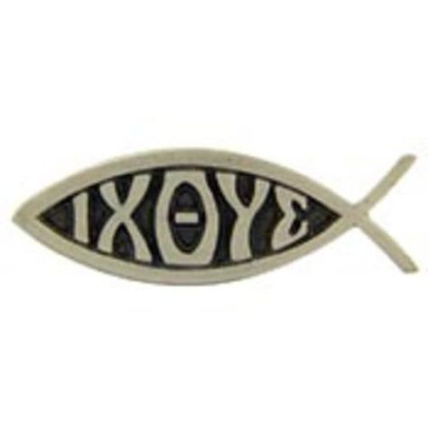 """Jesus IXOYE Fish Pin Pewter 1"""" by FindingKing. $8.99. This is a new Jesus IXOYE Fish Pin Pewter 1"""""""