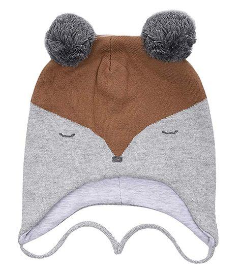 a5d720e26be Eriso Toddler Baby Fox Hat Mittens Set Little Kids Knit Winter Caps Review
