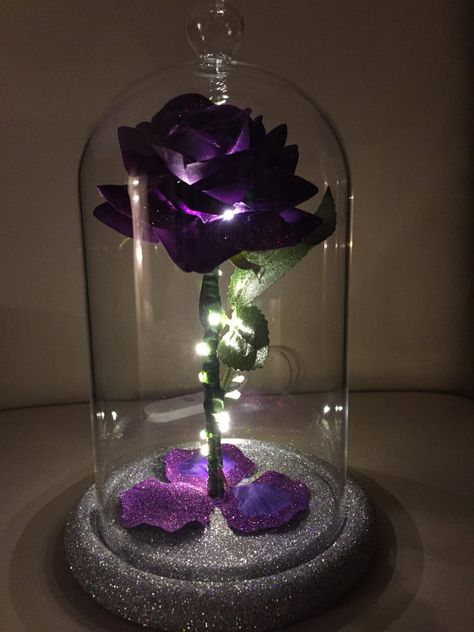 Beauty & The Beast Inspired Enchanted Rose Dome Light in