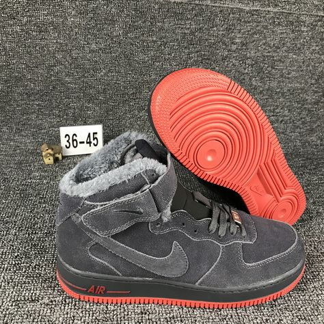 2018 Spring Fashion Nike Air Force 1 Mid Dark Charcoal