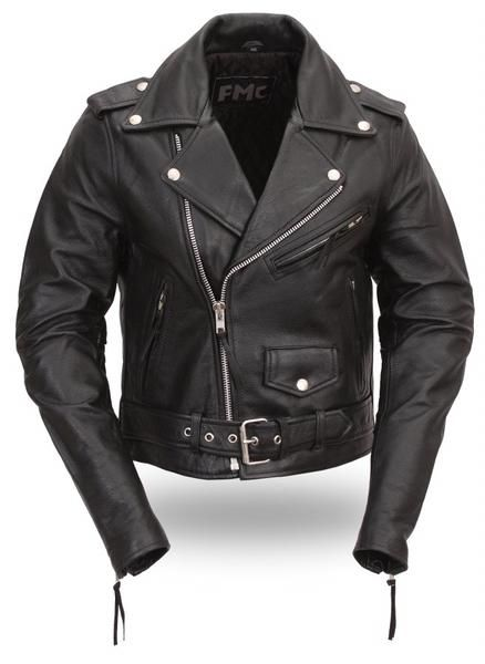 Classic Womens Leather Motorcycle Jacket   The Alley   STYL