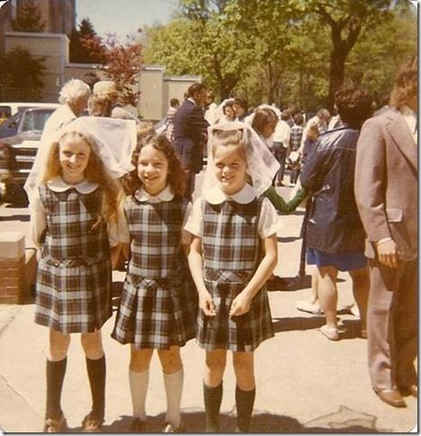 Embarrassing School Uniforms They Used To Make Us Wear Some Ridiculous Uniforms Back In The 70s Catholic School Uniforms Catholic School Girl School Uniform