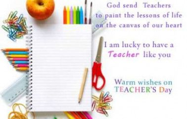 Lines To Write On Teachers Day Card Teachers Day Greeting Card