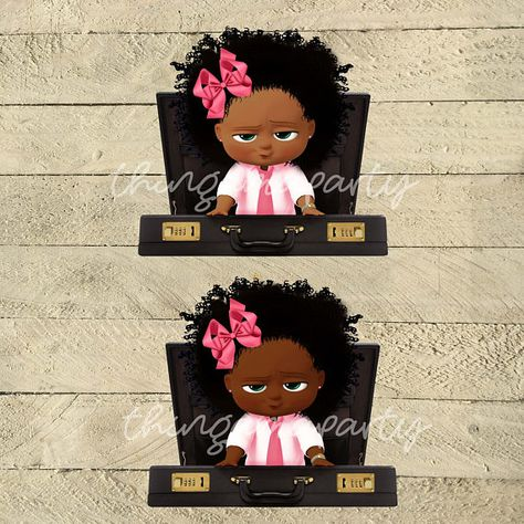 Boss Baby Girl African American Photo Boot Frame Baby Boss