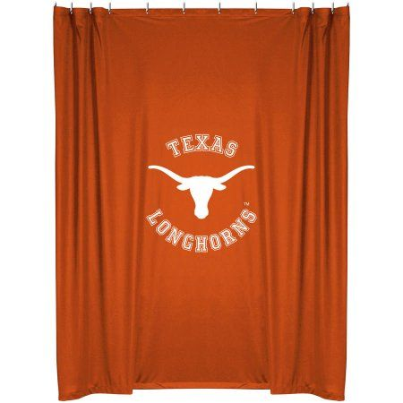 Sports Outdoors Fabric Shower Curtains Texas Longhorns Ut