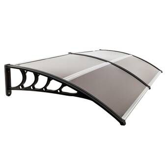 Alvin 7 Ft W X 3 Ft D Polycarbonate Standard Door Awning In 2020 Door Awnings Window Awnings Door Canopy