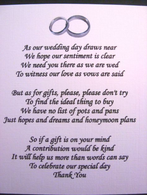20 Wedding poems asking for money gifts not presents Ref No 13 - birthday invitation wording no gifts donation