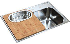 Lavello da cucina, da incasso, in acciaio inox, con ...
