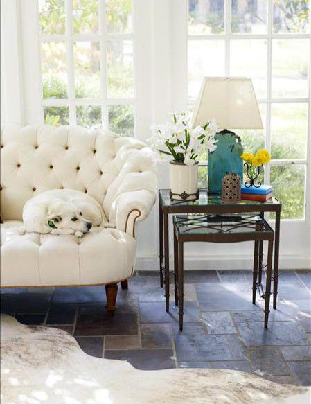 Loving this bright, sunny room and it's neutral color scheme….seems the doggie is loving it too!  Accessories via http://athomewithwillowhouse.tumblr.com/post/30106017573/loving-this-bright-sunny-serene-room-and-its#