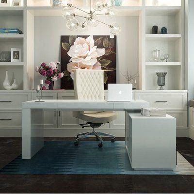 Orren Ellis Camron L Shape Writing Desk In 2019 Home Office