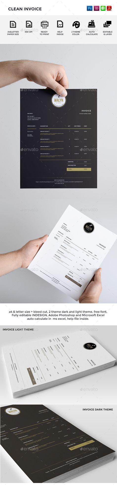 Invoice Template | Invoice Design | Receipt | MS Word Invoice ...