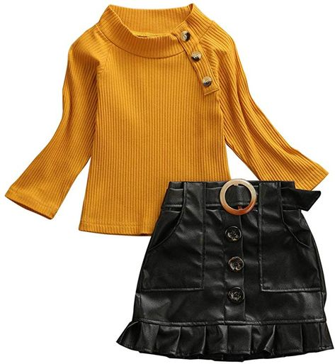 Autumn Winter Baby Girl Outfit Clothes Toddler Kids Hairball Long Sleeve Warm Sweater Tops Knitwear Button Mini Skirt