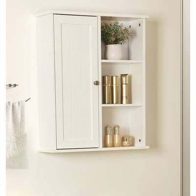 Angelica 60 X 65cm Wall Mounted Bathroom Cabinet Wall Mounted Bathroom Cabinets Wall Mounted Cabinet Cabinet Shelving