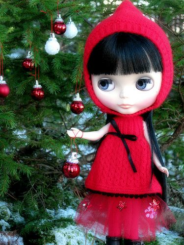 Little Red Riding Hood waiting for Christmas..