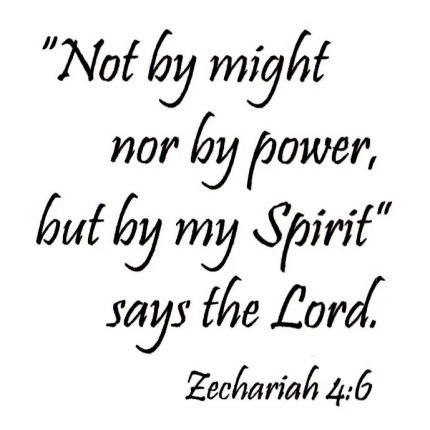 Not by might by my Spirit bible verse unmounted rubber stamp Zechariah 4:6 #16
