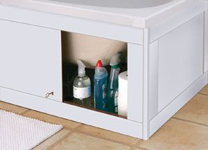 I have to get a new bath panel and this is genius use of otherwise dead space, and hides cleaning products etc, so you don't have to buy any extra storage.