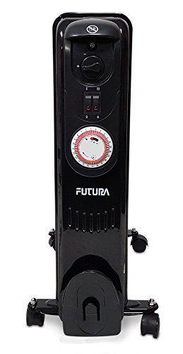 Futura Digital Oil Filled Radiator 11 Fin 2 5kw 2500w Countdown Timer Thermostat Portable Elec Portable Electric Heaters Oil Filled Radiator Electric Heater