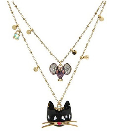 Large Crystal Rhinestone Cat Kitten Animal Female Furong Stone Pendant