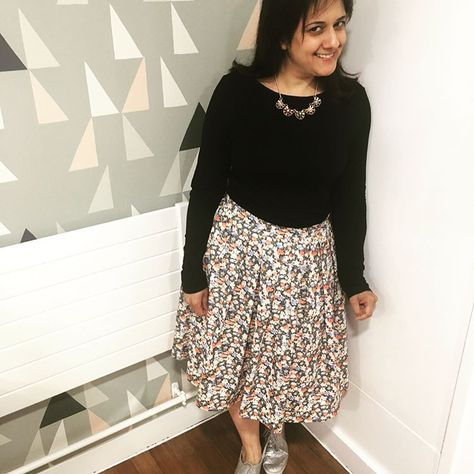 Really pleased with this Sew Over It Lizzie Skirt. This was made at one of the fab classes at Sew Over It, highly recommended