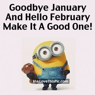 Goodbye January Hello February Funny Images Hello February Quotes February Quotes February Images