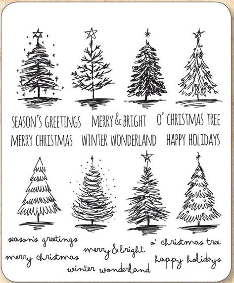 Stamper's Anonymous / Tim Holtz - Cling Mounted Rubber Stamp Set - Scribbly Christmas,$29.95