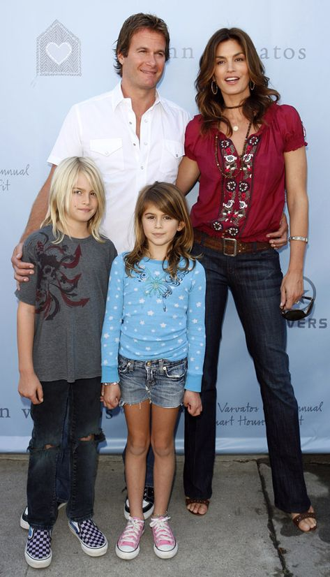 Cindy Crawford's family, husband, son and daughter.......how blessed is she?