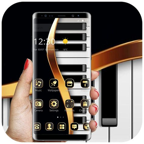 Download Gold Luxury Piano Theme 1 1 4 Apk